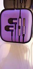Xiomi Mi In-Ear écouteurs avec micro mauve et noir filaire Jack 3.5 mm-Neuf
