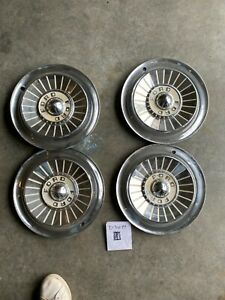 """Set of 4 1957 Ford Vintage 14"""" Hubcaps Fairlane Thunderbird Sunliner Galaxie"""