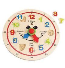 BrandNew in Box HAPE EducoHappy HourWooden Clock Children Play Toy Age3+
