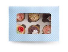 Boîte de rangement pour 6 pièces Muffin Cupcake Boîte de transport boite Caja carton