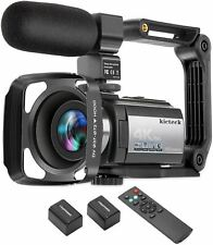 Video Camera Camcorder 4K 60FPS kicteck Ultra HD Digital WiFi Camera 48MP 3 inch