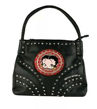 Betty Boop Bling Rhinestone Faux Leather Shoulder Purse Handbag King Features