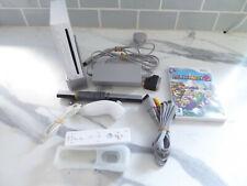 Nintendo Wii White Console Official Controller Nunchuck with Mario party 8