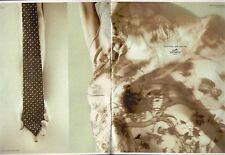 ▬► PUBLICITE ADVERTISING Hermès Cravate Soie Carré twill de Soie 1998 2 pages