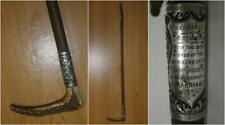 Antique Presentation Hunt Whip 'To T.Dapilan Esq From Gt Barr Cricket Club 1889'