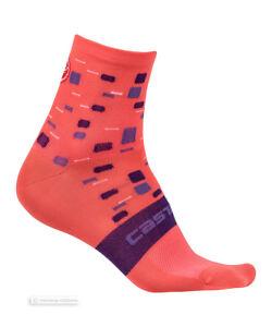 Castelli CLIMBER'S W Womens Cycling Socks : SALMON One Pair