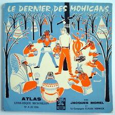 LIVRE-DISQUE 33 TOURS ATLAS DE 1960, LE DERNIER DES MOHICANS, No.A 25 1026