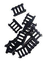 10x Lego Fence Spindled Black fences 30055