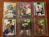 HOCKEY BASE AND INSERTS LOT (SIDNEY CROSBY, MARIO LEMIEUX, ALEXANDER OVECHKIN)