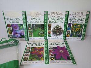 RHS PRACTICAL GUIDE Set of 6 Dorling Kindersly PAPERBACK Gardening BOOKS in Bag