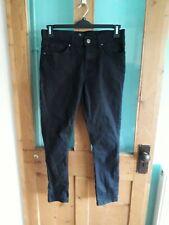 River Island mens black stretch skinny jeans 32 regular leg