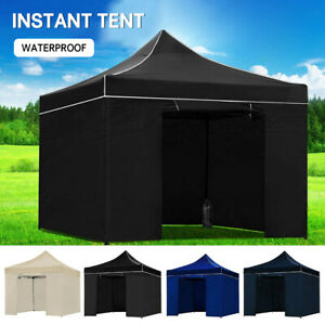 Gazebo Party Wedding Marquee Outdoor Event Tent Shade Canopy Camping W/ Panel