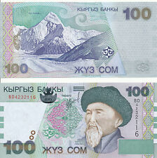 Kirgisistan /  Kyrgyzstan - 100 Som 2002 UNC - Pick 21