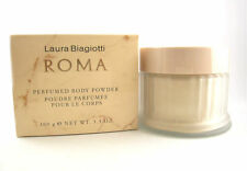Roma for Women Laura Biagiotti Perfumed Body Powder 3.5 oz Glass Jar New in Box