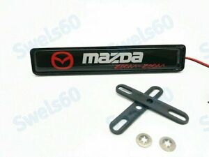 LED Car Front Grille Badge Emblem Illuminated Bumper Sticker For MAZDA Light New