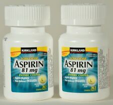 ASPIRIN 81mg Low Dose 730ct Enteric Coated Pain Reliever - Kirkland Signature