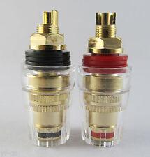 8pcs High Quality Gold Plated 4mm Banana Jack Binding Post Tube Amp Speaker -US