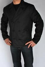 New Mens Authentic Guess Black Insulated Coat Peacoat Jacket Large