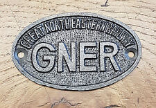 GNER Great North Eastern Railway - Cast Iron Vintage Style Oval Plaque Door Sign