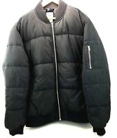 Divided H&M Men's Puffer Jacket Coat Black SZ XL