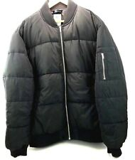 Divided H&M Men's Puffer Jacket Coat Black SZ XL
