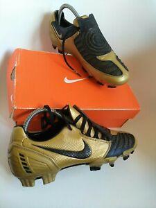 Rare Nike Total 90 Laser II FG size 8 gold