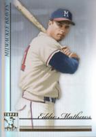 2010 Topps Tribute Baseball #25 Eddie Mathews Milwaukee Braves