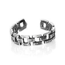 rings -Set Of 2 Link chain sterling silver toe