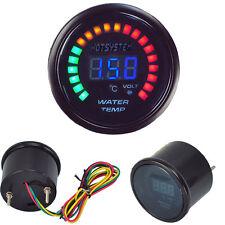 Car Digital Blue LED Black Water Temp Temperature Racing Meter Gauge Universal