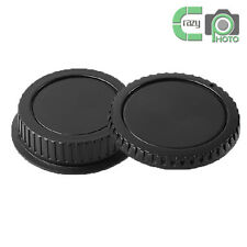 1 SET for Canon EOS EF EF-S EF/S DSLR Camera Rear Lens Cap and Body Cap Set