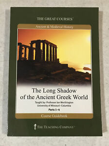 Great Courses The Long Shadow Of The Ancient Greek World PBK Guidebook Parts 1-4