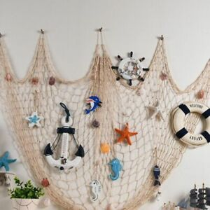 Party Decorative Natural Fish Net Little Mermaid Birthday Under Sea Party Pirate