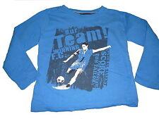 Tom Tailor tolles Langarm Shirt Gr. 116 / 122 blau mit Druckmotiv !!