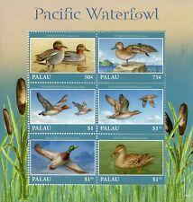 Palau 2018 MNH Pacific Waterfowl Wigeon Teal Mallard 6v M/S I Ducks Birds Stamps