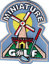 """""""MINIATURE GOLF"""" - Iron On Embroidered Applique Patch /Golf -  Games -  Sports"""