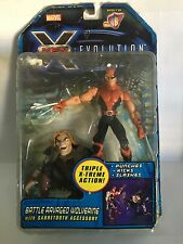 Toy Biz Marvel X Men Evolution Battle Ravaged Wolverin, Nuevo (Leer Descripción)