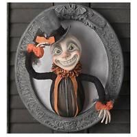 "Bethany Lowe 13"" Leering Lawrence Retro Vntg Halloween Wall Hanging Decor Plaque"