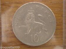 10 new pence 1975 ELIZABETH II