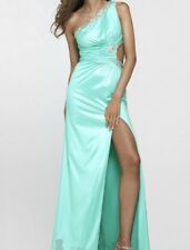 Clarisse Aqua One Shoulder Beaded Prom Sweet 16 Dress Sz 2 Preowned quinceanera