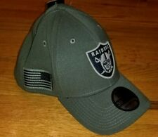 *Salute to Service* New Era NFL LAS VEGAS RAIDERS HAT Mens M/L army oakland