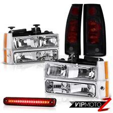 88-93 Chevy Silverado C1500 Chrome Headlight Bumper Smoke Taillamp LED 3RD Brake