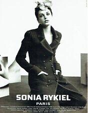 Publicité Advertising  0817  1996  Sonia Rykiel haute couture par Mario Testino