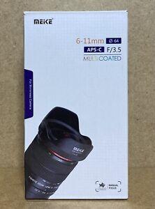 Meike MK 6-11mm F3.5 Fisheye APS-C Fujifilm X Mount