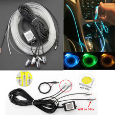 RGB 5 LED Car Interior Decoration Ambient Light 6m Neon Strip Kit APP Control