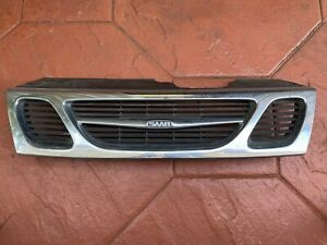 1997-2001 Saab 9 5 9-5 95 Front Radiator Kidney Chrome Grille. Genuine 4677217Y