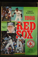 LOT OF 3 1986 FIRST EDITION RED SOX PROGRAMS 5/20 TWINS 6/3 INDIANS 6/13 BREWER