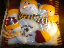 """*NEW* Washington Redskins Snowman """"Family"""" Pillow"""