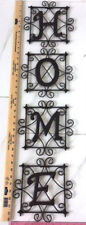 "Home Interiors ""Home Wall Plaques"" Metal With Hangers-9"" X36""-Set/4-In/Outdoo rs"