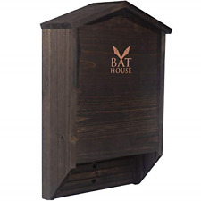 Handcrafted Wooden Bat House Box for Double Chamber Shelter Creates Land Home