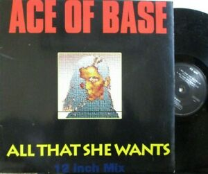 """ACE OF BASE ~ All That She Wants ~ 12"""" Single PS"""